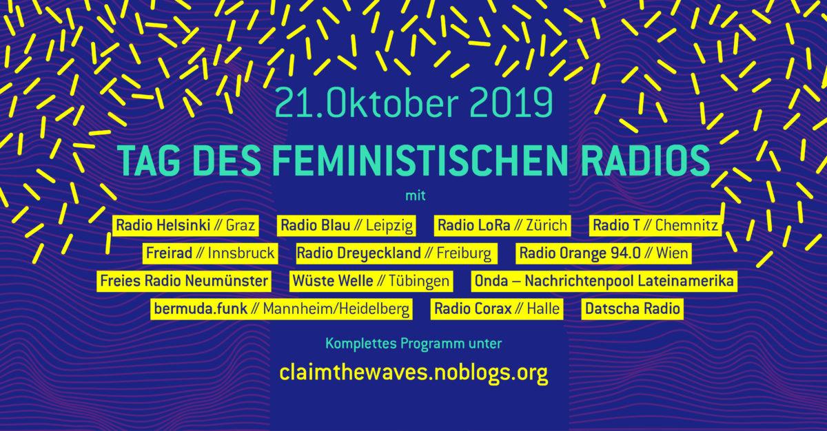 BFR/AMARC: Welttag des Feministischen Radios am 21.10.2019